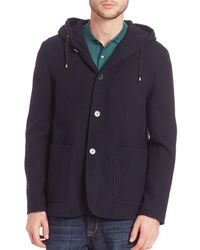 Saks Fifth Avenue - Modern Hooded Wool Coat - Lyst