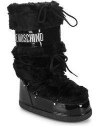 Love Moschino - Faux-fur Moon Boot - Lyst
