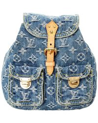 Louis Vuitton - Blue Monogram Denim Sac A Dos Pm - Lyst