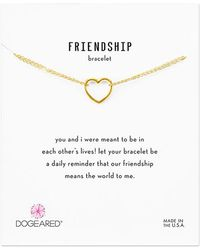 Dogeared - 14k Over Silver Friendship Bracelet - Lyst