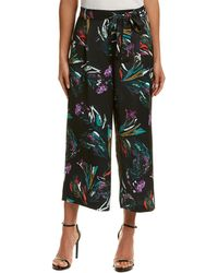 Catherine Malandrino Printed Cropped Trousers - Blue