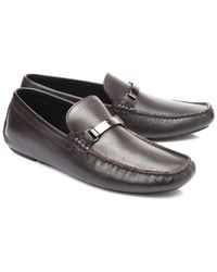 9bb34925314 Lyst - Versace Spazzolato Leather Monk Strap Loafer in Brown for Men