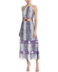 Ramy Brook Cutout Silk Maxi Dress