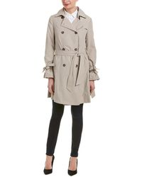 French Connection | Double-breasted Trench Coat | Lyst