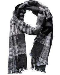 Phenix - Men's Buffalo Plaid Check Wool Scarf - Lyst