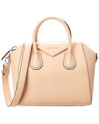 Lyst - Givenchy Antigona Mini Leather Satchel in Orange 8858811e29323