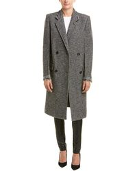 Helmut Lang - Deconstructed Wool-blend Overcoat - Lyst