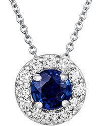 Le Vian - ? 14k 0.67 Ct. Tw. Diamond & Sapphire Necklace - Lyst