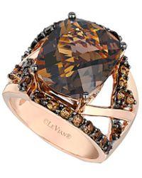 Le Vian - ® 14k Rose Gold 8.83 Ct. Tw. Smoky Quartz Ring - Lyst