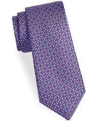 Saks Fifth Avenue - Lattice Floral Silk Tie - Lyst