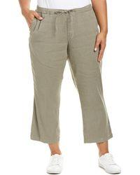 NYDJ - Plus Sergeant Olive Drawstring Linen-blend Ankle Pant - Lyst
