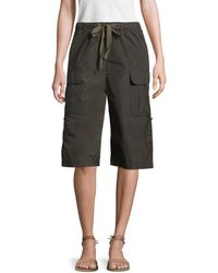 RED Valentino High Rise Cropped Cargo Pant