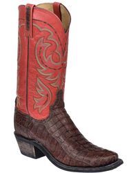 Lucchese - Men's Sienna Stonewashed Leather Tail Western Boot - Lyst