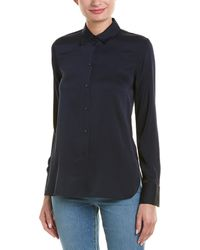 Vince - Slim Fitted Silk-blend Blouse - Lyst