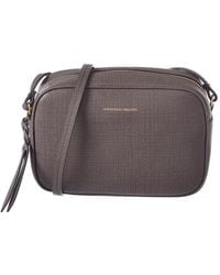 Alexander McQueen - Small Lino Embossed Leather Camera Bag - Lyst