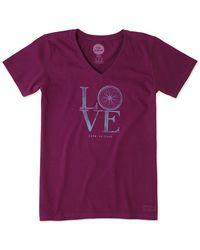 Life Is Good. - ® Crusher V-neck Shirt - Lyst