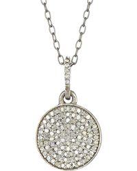 Adornia Fine Jewellery Rhodium Plated Silver 0.30 Ct. Tw. Diamond Necklace - Metallic