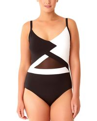 Anne Cole - Plus Size Hot Mesh One-piece Swimsuit - Lyst