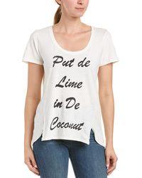 Sol Angeles - Double Split T-shirt - Lyst