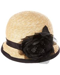 Kathy Jeanne - Straw Cloche Hat With Bow - Lyst