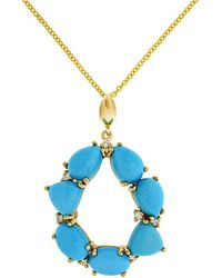 Effy - Fine Jewelry 14k 6.70 Ct. Tw. Diamond & Turquoise Necklace - Lyst