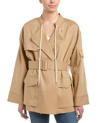 Helmut Lang - Oversized Trench Jacket - Lyst