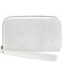 Graphic Image - Leather Wristlet Phone Wallet - Lyst