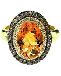 Le Vian - ? 14k 3.26 Ct. Tw. Diamond & Citrine Ring - Lyst