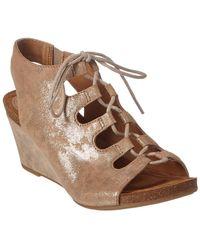 Söfft - Maize Leather Wedge Sandal - Lyst
