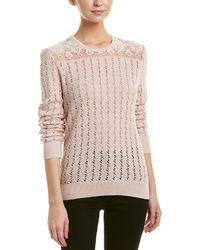 The Kooples - Crochet & Lace Sweater - Lyst