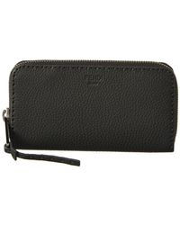 Fendi - Leather Zip Around Wallet - Lyst
