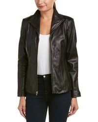 Cole Haan - Leather Jacket - Lyst