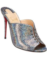 3eb5cd0c28d0 Lyst - Christian Louboutin Balota Glitter Leather Strappy Sandals in ...