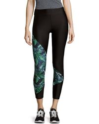 We Are Handsome - Printed Panel Cropped Legging - Lyst