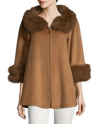 La Fiorentina - Wool Swing Coat - Lyst