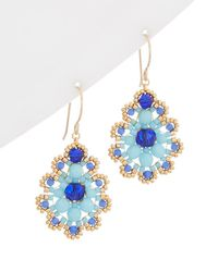 Miguel Ases - 14k Filled Beaded Pear Drop Earring - Lyst