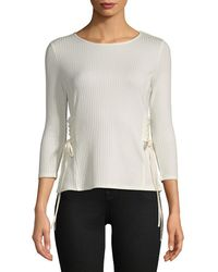 Vince Camuto - Quarter-sleeve Side Lace Top - Lyst