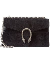 Gucci - Dionysus Small Embossed Velvet And Textured-leather Shoulder Bag - Lyst