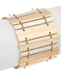 Robert Lee Morris - The Bigger Stone Plated Cz Magnetic Bar Bracelet - Lyst