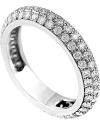 Cartier - Cartier 18k 1.50 Ct. Tw. Diamond Eternity Ring - Lyst