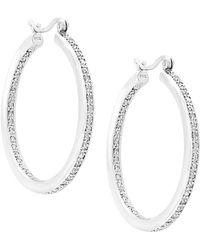 Effy - Fine Jewelry 14k 1.12 Ct. Tw. Diamond Hoops - Lyst