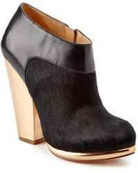 Cole Haan - Sophie Leather & Haircalf Bootie - Lyst