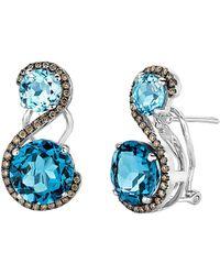 Le Vian - ? 14k 8.09 Ct. Tw. Diamond & Blue Topaz Drop Earrings - Lyst
