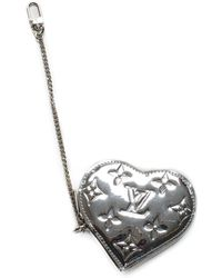 Louis Vuitton - Silver Monogram Vernis Leather Heart Change Pouch, Never Carried - Lyst