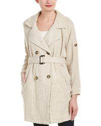 Moon River - Double-breasted Linen-blend Coat - Lyst