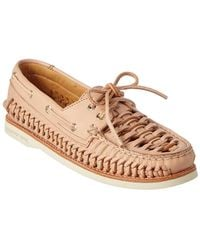 Sperry Top-Sider - Women's A/o Woven Leather Boat Shoe - Lyst