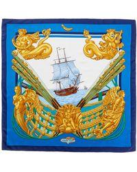 """Hermès - """"carre Ship Sea,"""" By Henri D' Origny Silk Scarf - Lyst"""