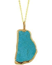 Charlene K - 14k Over Silver Vermeil Blue Turquoise 28in Necklace - Lyst