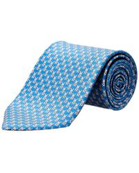 Ferragamo - Blue Rabbit & Soccer Ball Silk Tie - Lyst