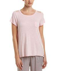 Kensie - Mesh Insert Pyjama Top - Lyst